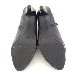 Bandolino Shoes - Bandolino 11M Shooties Black Faux Leather Heel Zip